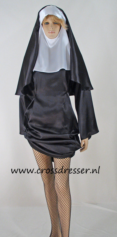 Sexy Sinful Nun Costume from our Sexy Costumes and Uniforms Collection, OriginalHigh  Quality Designs by Crossdresser.nl