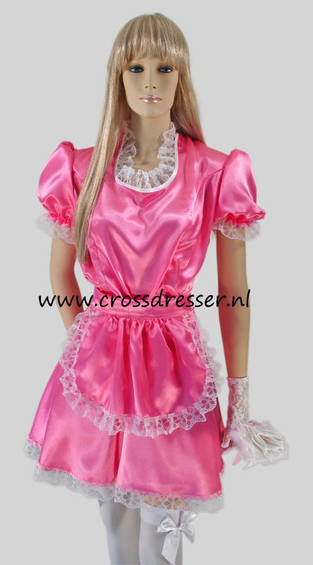 Sissy Maid Pink Desire Costume / Uniform from the Sissy Maids Collection, Original Crossdresser designs by Crossdresser.nl