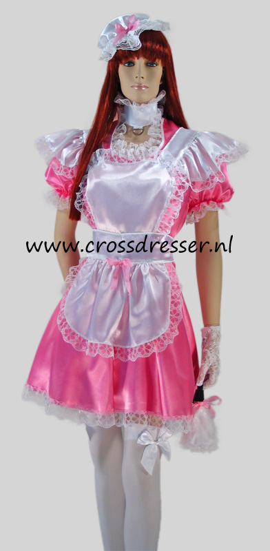Sissy Maid Pink Dream Costume / Uniform from the Sissy Maids Collection, Original Crossdresser designs by Crossdresser.nl