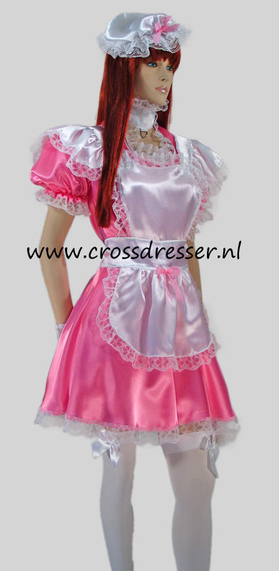 Pink Dream Sissy Maid Costume / Uniform, Original Sissy Maid Designs by Crossdresser.nl - photo 2.
