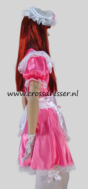 Pink Dream Sissy Maid Costume / Uniform, Original Sissy Maid Designs by Crossdresser.nl - photo 3.