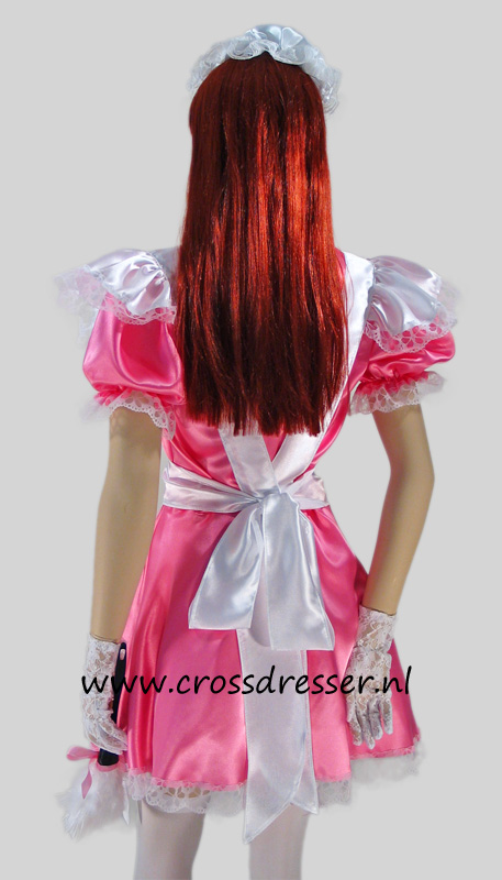 Pink Dream Sissy Maid Costume / Uniform, Original Sissy Maid Designs by Crossdresser.nl - photo 4.