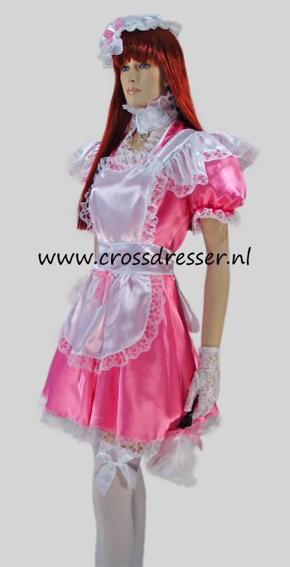 Pink Dream Sissy Maid Costume / Uniform, Original Sissy Maid Designs by Crossdresser.nl - photo 5.
