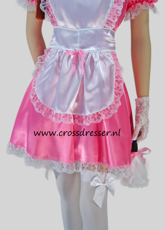 Pink Dream Sissy Maid Costume / Uniform, Original Sissy Maid Designs by Crossdresser.nl - photo 6.