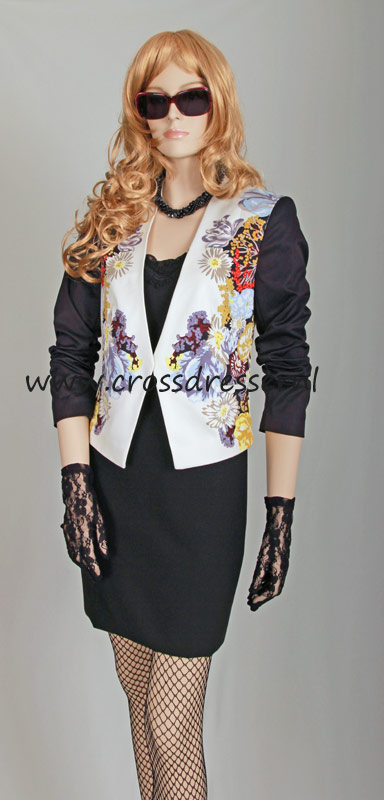 Example Custom Made Outfit: Cocktail Party Jacket - an original design made by MBG Fashions and available via Crossdresser.nl