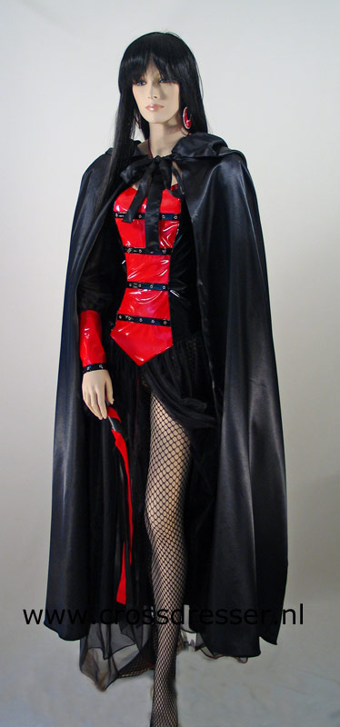 Example Costume: High Priestess - Worship Her Every Curve - an original design made by MBG Fashions and available via Crossdresser.nl