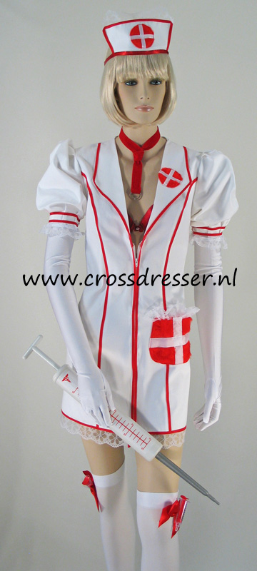 Example Costume: Playful Nurse With A Firm Grasp On The Patient - an original design made by MBG Fashions and available via Crossdresser.nl